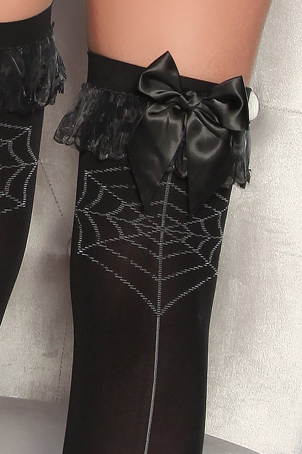 Stockings mit Spinne schwarz