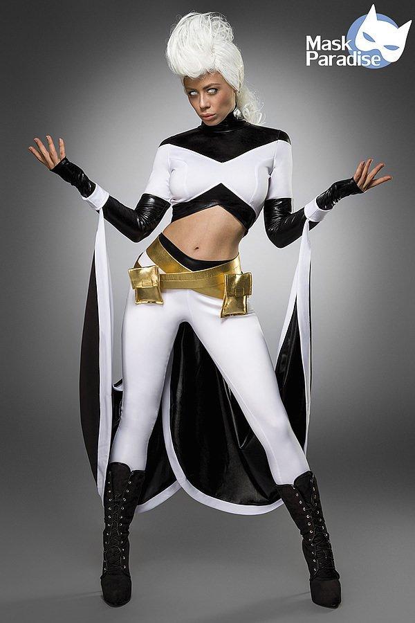 Storm Heroine Kostümset weiß/schwarz