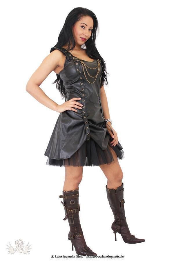Strap Rouch Steampunk Dress