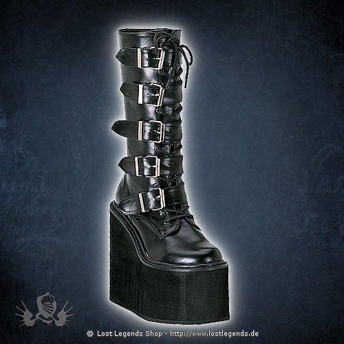 Swing-220 Kunstleder Demonia Gothic Stiefel