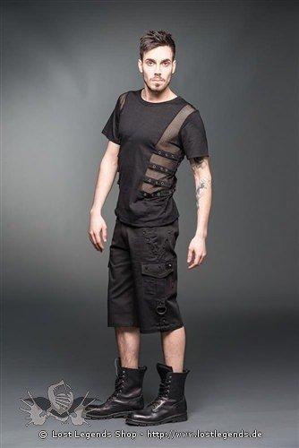 T-Shirt mit transparenten Seiten und Bändern mit Ösen