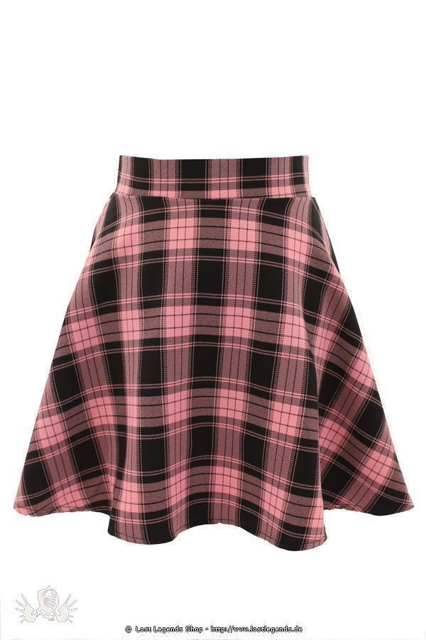 Tartan Flared Skirt