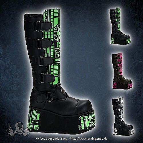 Techno-850UV Demonia Cyber Schuhe