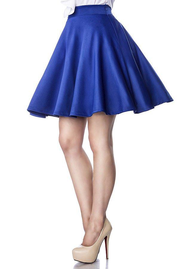 Tellerrock blau