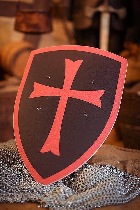 Tempelritter Schild schwarz-rot