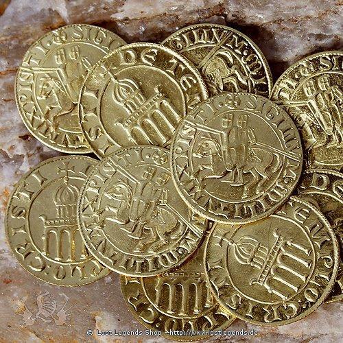 Templer Münzen Replik 10 Stk. aus Messing