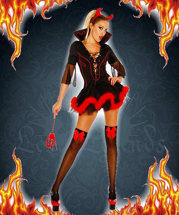 Teufelkostüm schwarz/rot