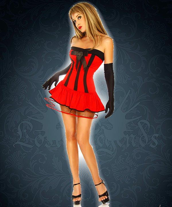 Teufelskostüm rot/schwarz