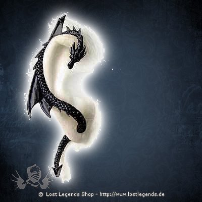 The Dragons Lure, black Ohrstecker