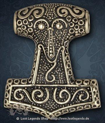 Thor Hammer Anhänger, Bronze