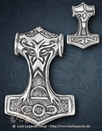 Thors Hammer Anhänger, Silber