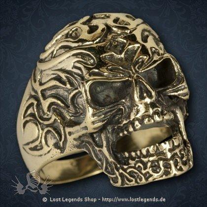 Totenkopf Ring Bronze