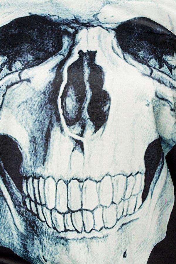 Totenkopf Sweatshirt schwarz/weiß