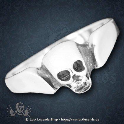Totenkopfring Silber