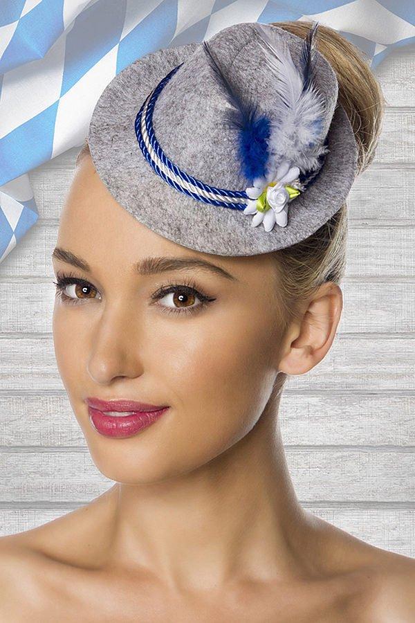 Trachten-Minihut blau