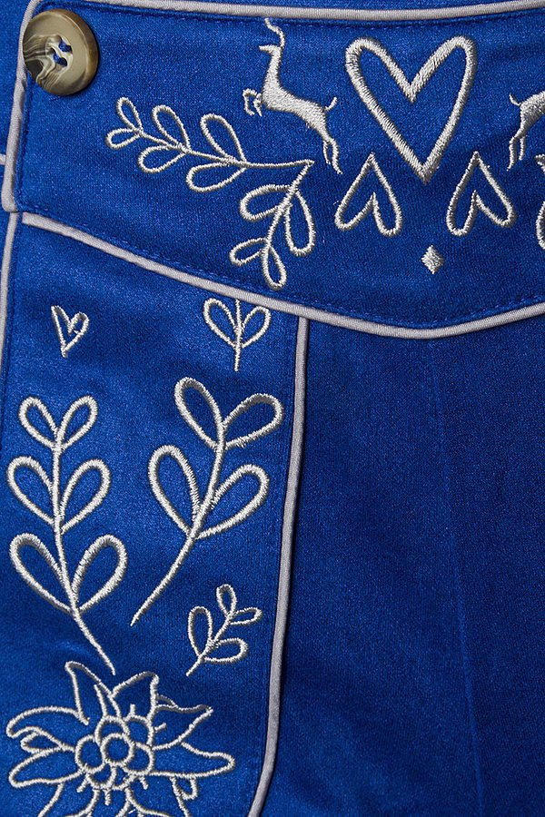 Trachtenhose mit Stickereien blau
