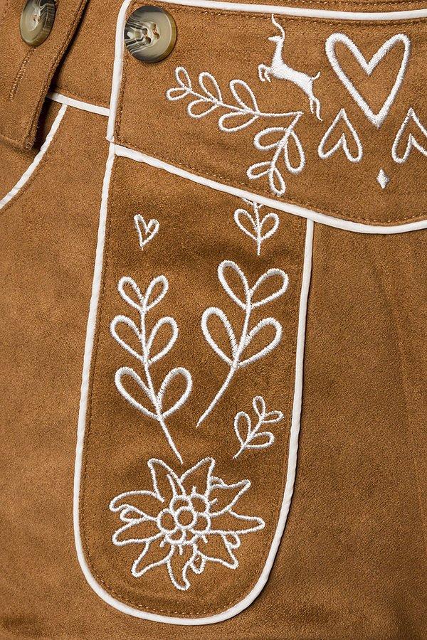 Trachtenhose mit Stickereien braun