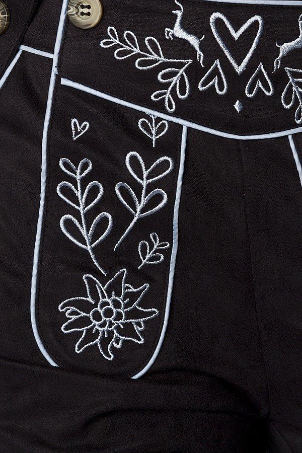 Trachtenhose mit Stickereien schwarz