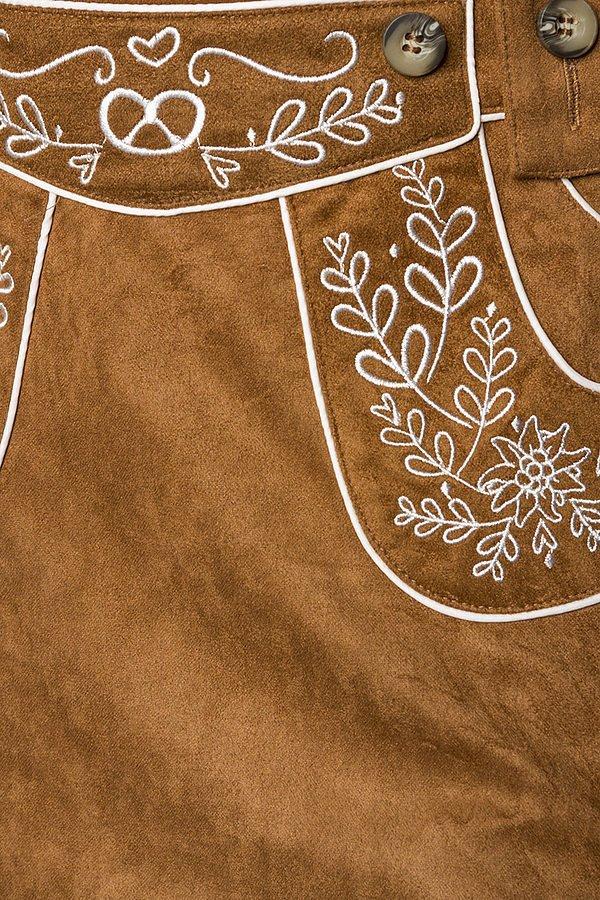 Trachtenrock mit Stickereien braun