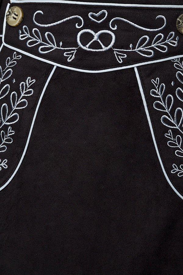 Trachtenrock mit Stickereien schwarz