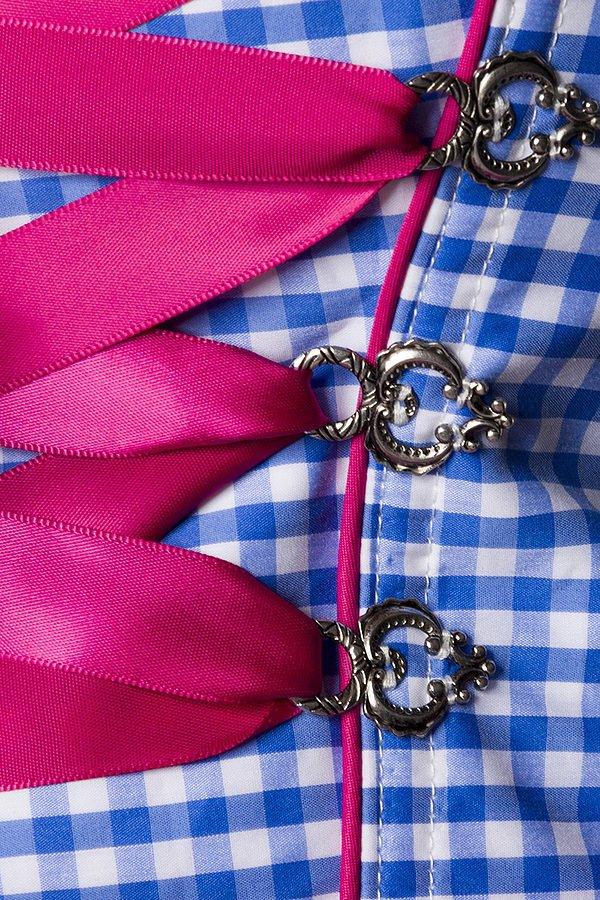 Traditionelles Karodirndl pink/blau/weiß