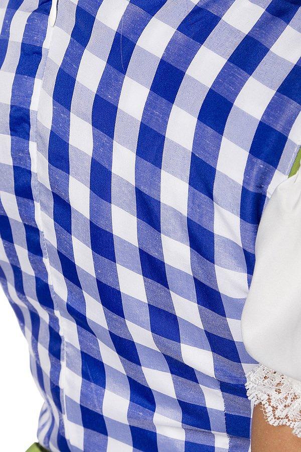 Traditionelles Minidirndl blau/grün/weiß