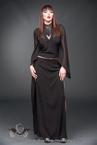 Transparente Bluse mit Glockenärmeln
