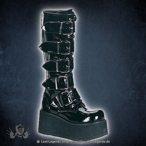 Trashville-518 Lack Demonia Gothic Stiefel