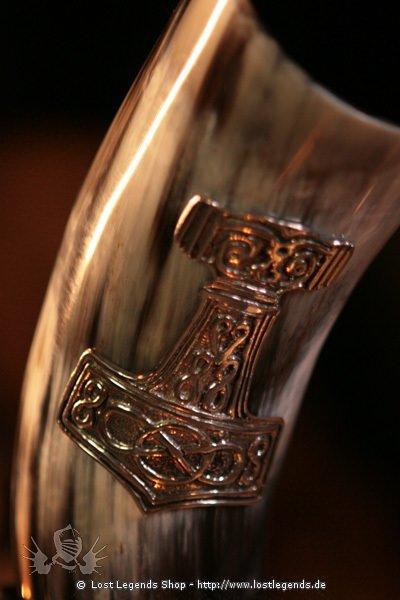 Trinkhorn mit Thorshammer 1 Liter