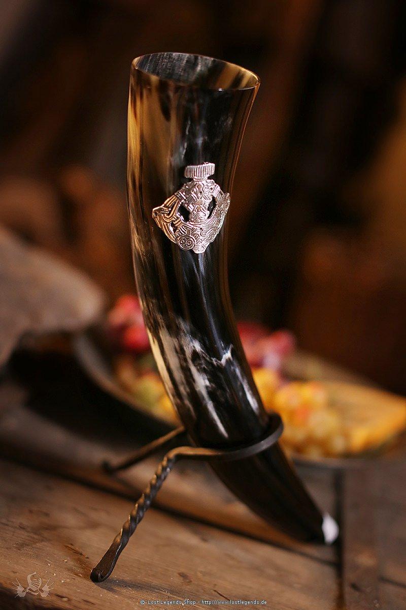 Trinkhorn mit Wikinger Ornament 0,5 Liter