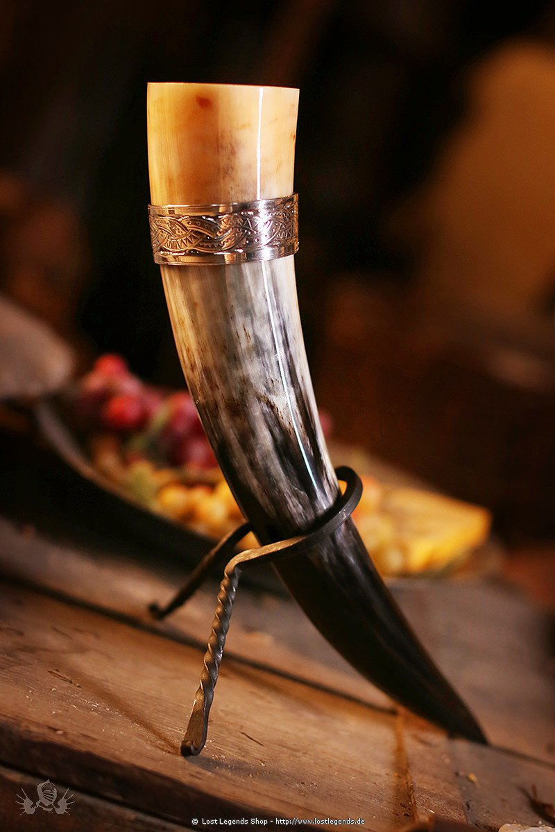 Trinkhorn mit Wikingerband 0,5 Liter