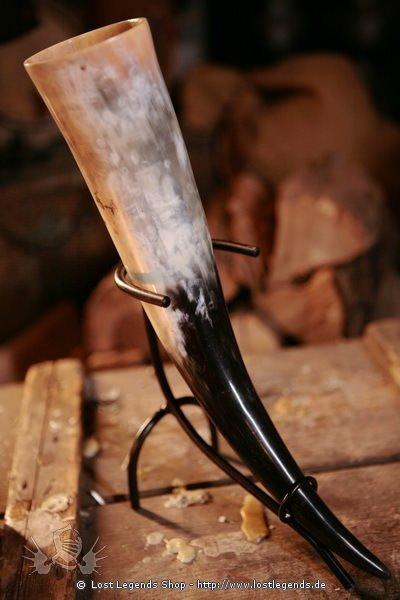 Trinkhorn-Ständer klein schwarz lackiert, klein