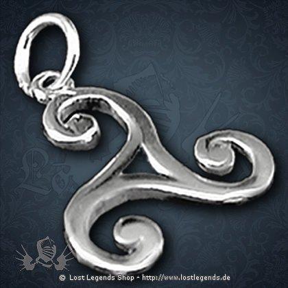 Triskel Anhänger, Silber