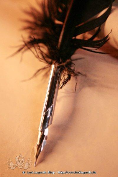 Truthahn-Schreibfeder mit Ersatzspitzen