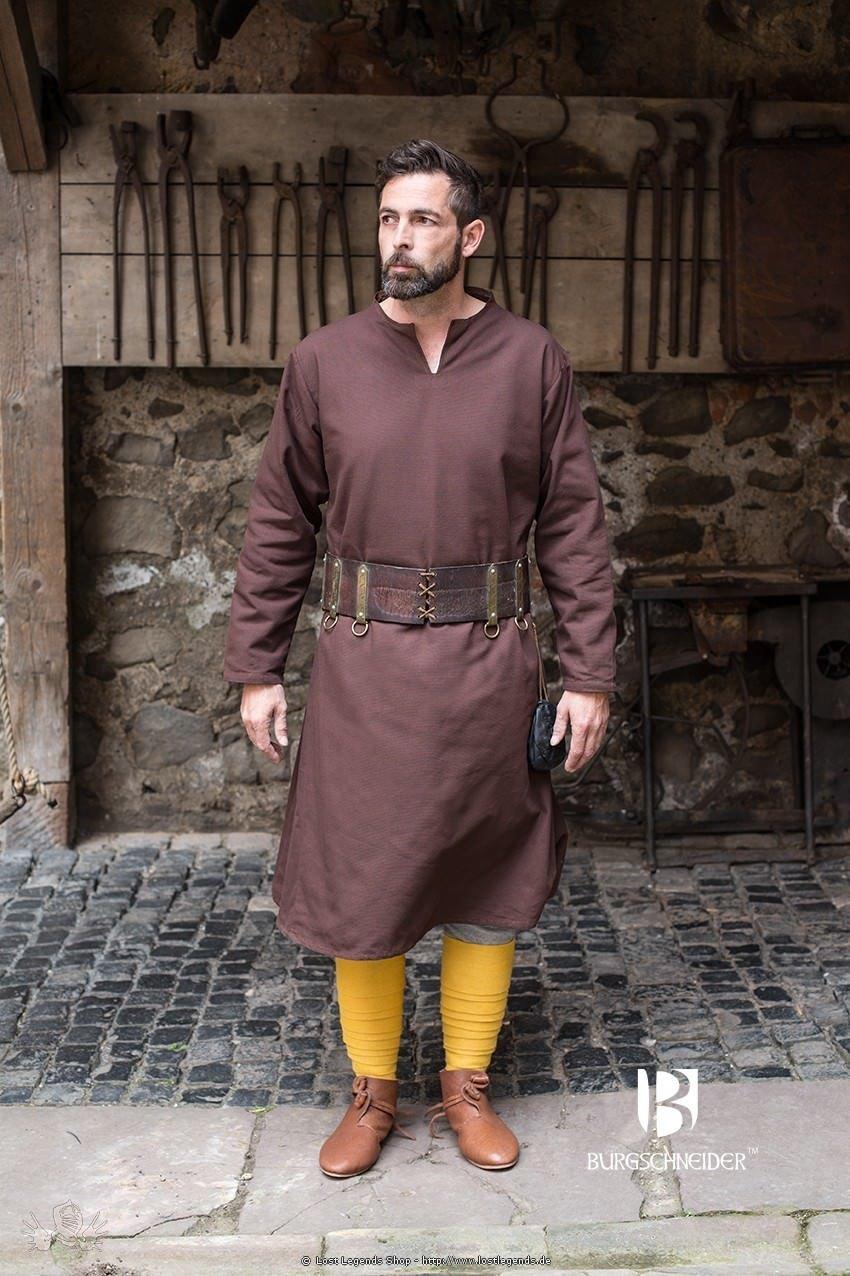 Mittelalterliche Tunika Ekwin, Braun