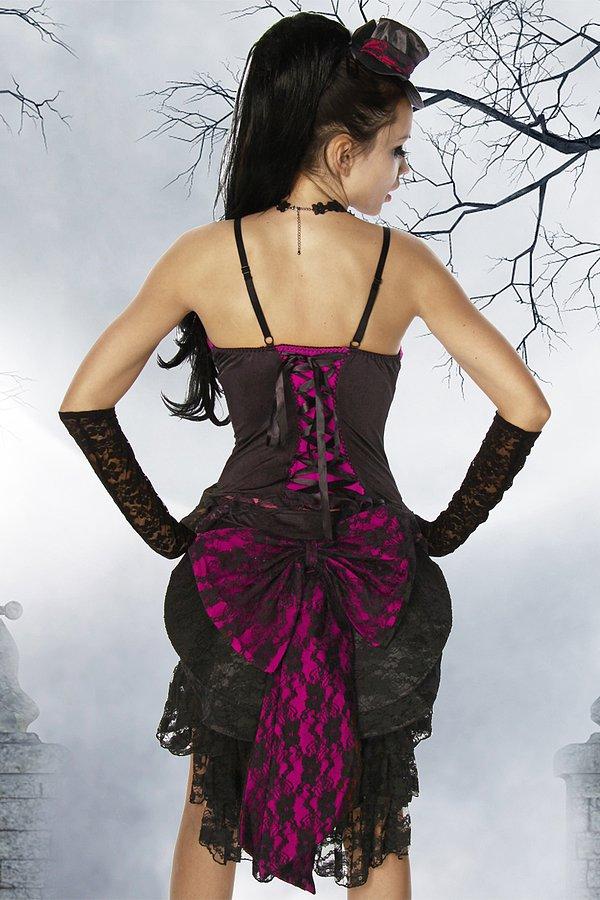 Vampirkostüm schwarz/pink