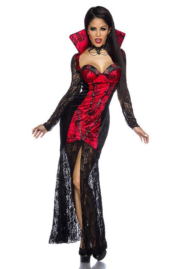 Vampirkostüm schwarz/rot