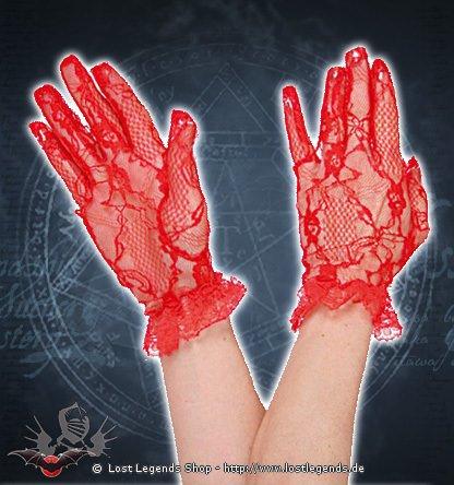 Victorian Gloves rot Handschuhe Spitze