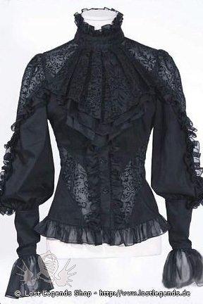Viktorianische Bluse Gothic, Steampunk