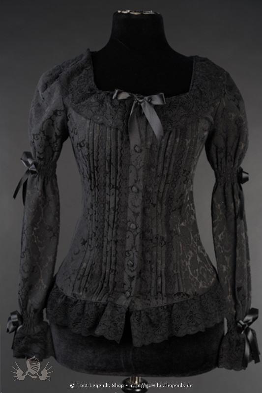 Romantische Brokatbluse Steampunk Bluse