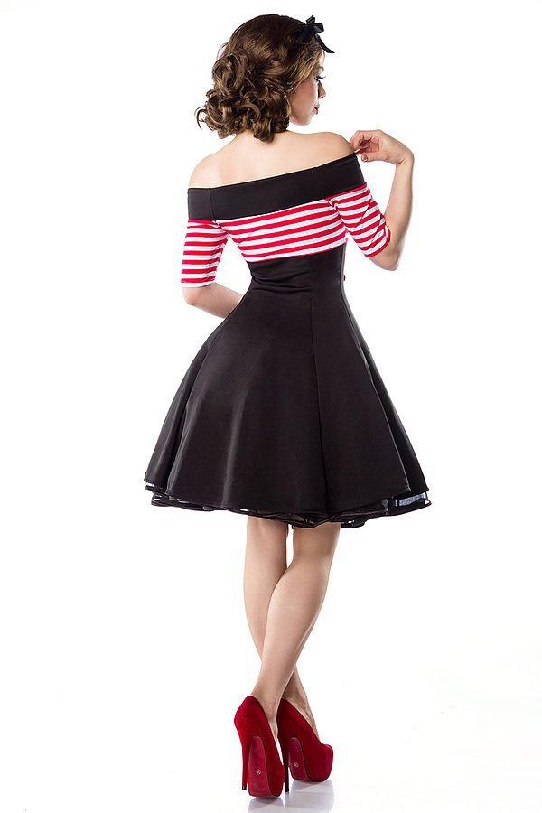 Vintage-Kleid schwarz/rot/weiß