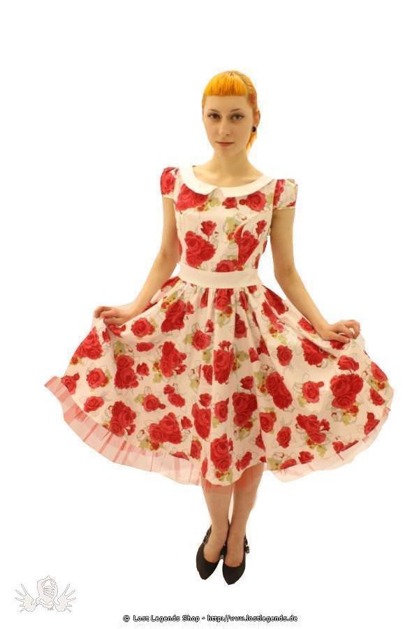Vintage Rose Pinup Kleid