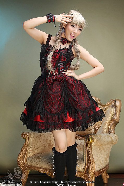 Visual Kei Dead Roses Dress Gothic Mini-Kleid
