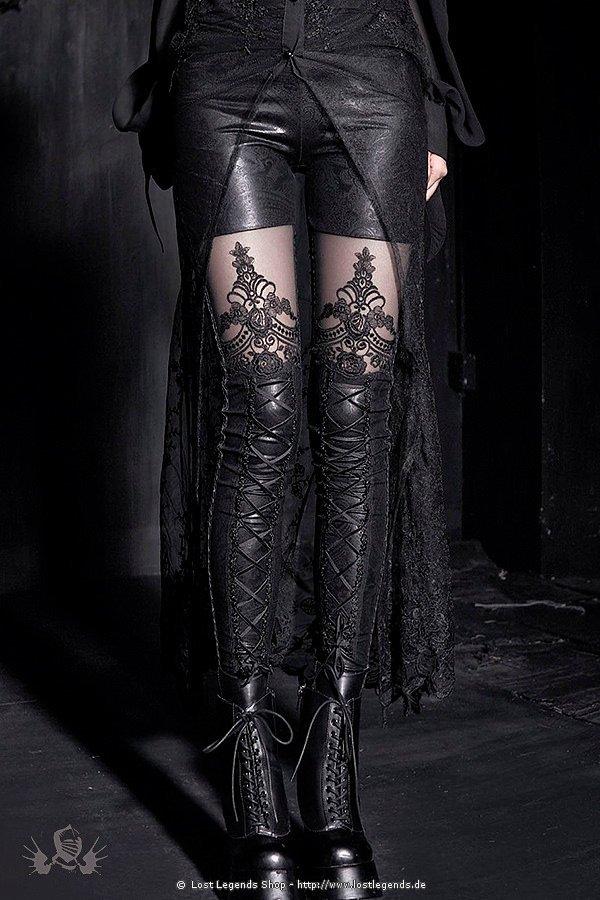 Visual Kei Floral Leggings Steampunk Leggings