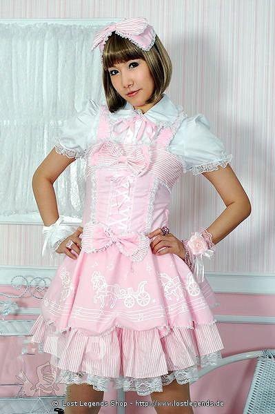 Visual Kei Pony Lolita Dress Gothic Mini-Kleid