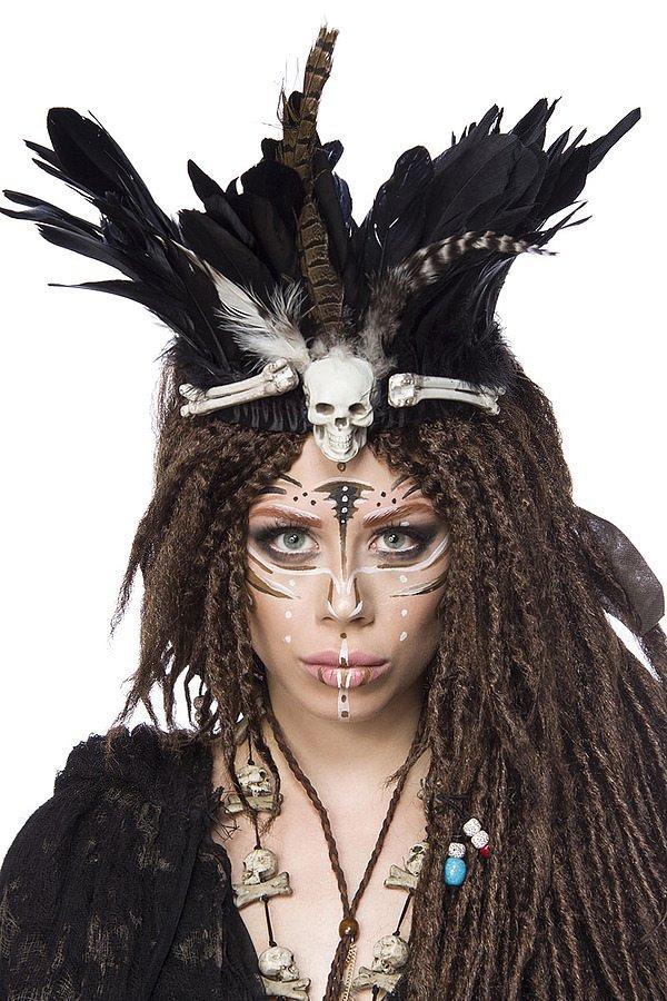Vodoo Witch Kostümtset schwarz