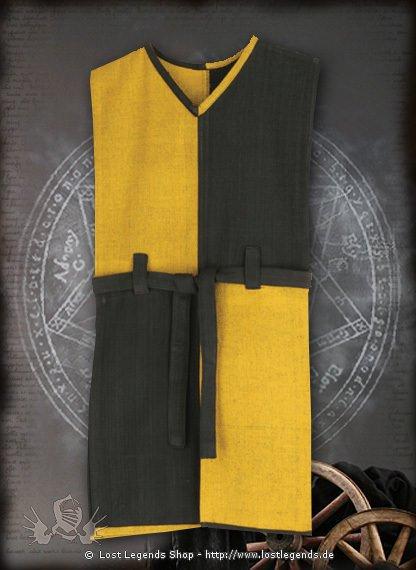 Wappenrock schwarz-gelb Baumwolle