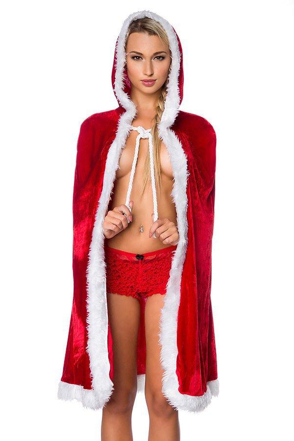 Weihnachts-Cape rot/weiß