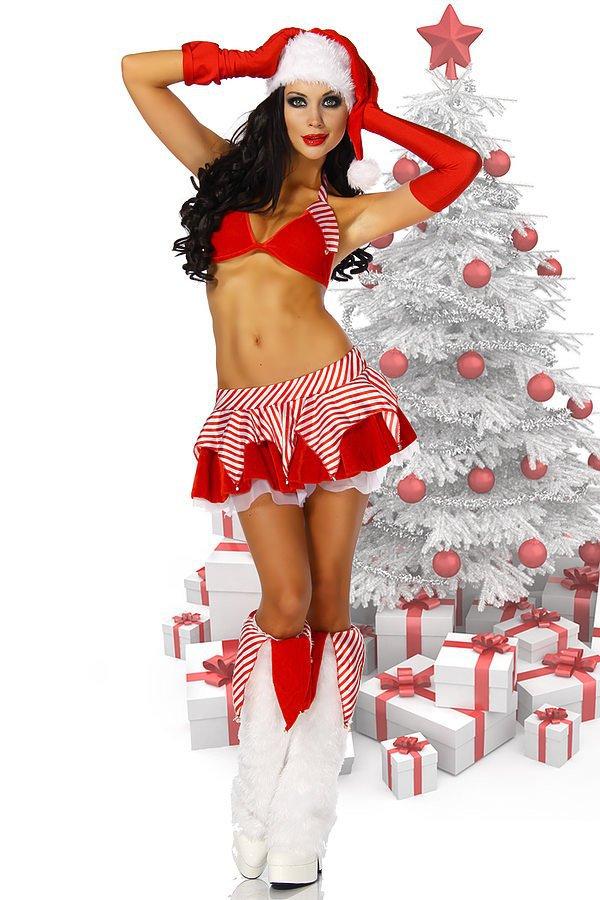 Weihnachts-Gogo-Set rot/weiß