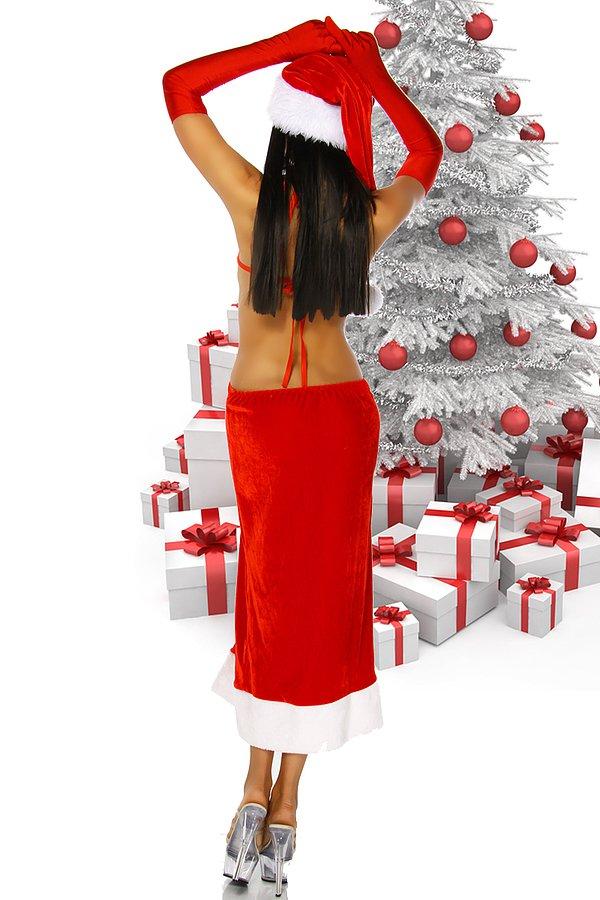 Weihnachtskleid rot/weiß